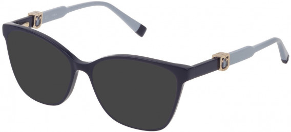 Furla VFU352 sunglasses in Shiny Dark Blue