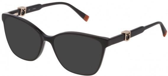 Furla VFU352 sunglasses in Shiny Black