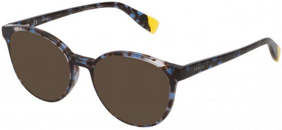 Furla VFU351 sunglasses in Shiny Blue Havana