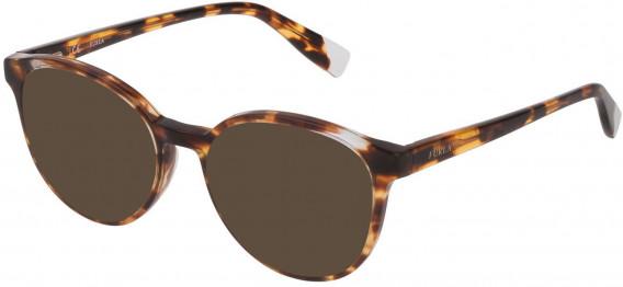 Furla VFU351 sunglasses in Shiny Brown/Yellow Havana