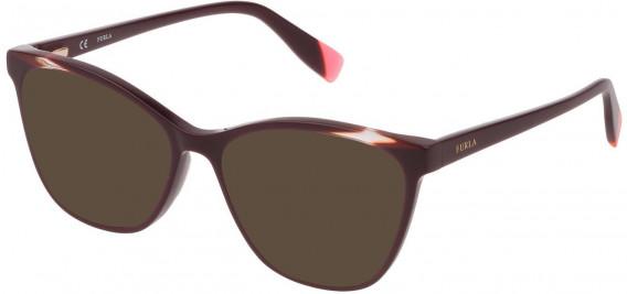 Furla VFU350 sunglasses in Shiny Full Plum