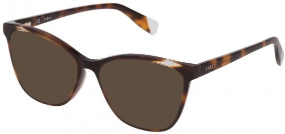 Furla VFU350 sunglasses in Shiny Dark Havana