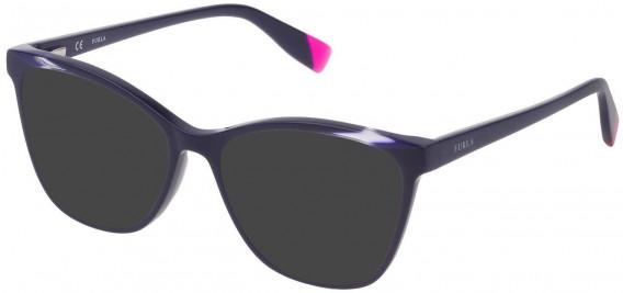 Furla VFU350 sunglasses in Shiny Dark Blue