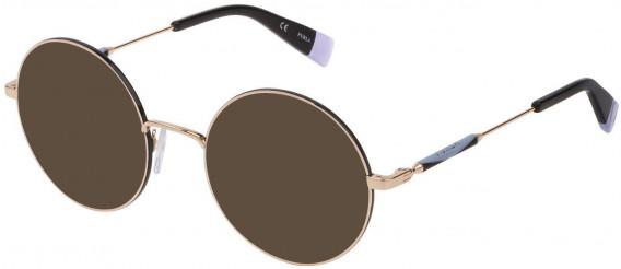 Furla VFU310 sunglasses in Shiny Rose Gold/Black
