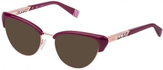 Furla VFU305 sunglasses in Shiny Full Cherry Red