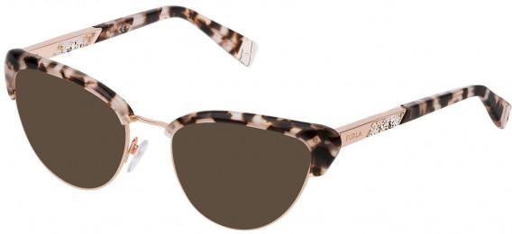 Furla VFU305 sunglasses in Shiny White/Black Havana