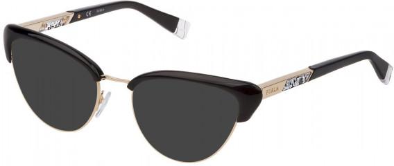 Furla VFU305 sunglasses in Shiny Black
