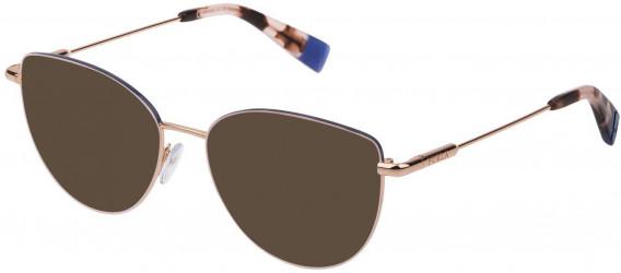 Furla VFU301 sunglasses in Shiny Gold Copper/Coloured
