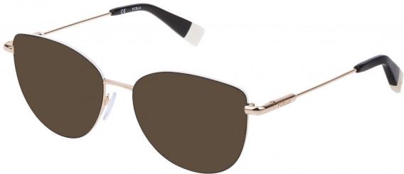 Furla VFU301 sunglasses in Shiny Rose Gold/Black