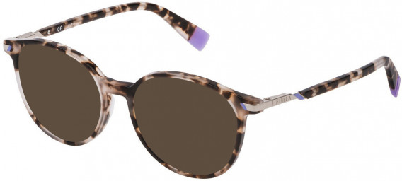 Furla VFU299 sunglasses in Shiny White/Black Havana