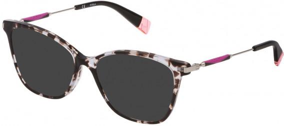 Furla VFU298 sunglasses in Shiny Grey/Black Havana