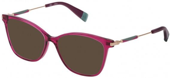 Furla VFU298 sunglasses in Shiny Transparent Cyclamen
