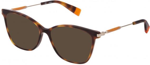 Furla VFU298 sunglasses in Shiny Dark Havana