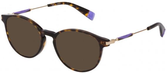 Furla VFU297 sunglasses in Shiny Dark Havana