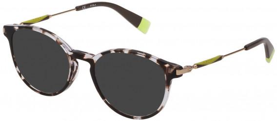 Furla VFU297 sunglasses in Shiny Grey/Black Havana