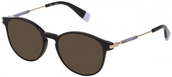 Furla VFU297 sunglasses in Shiny Black