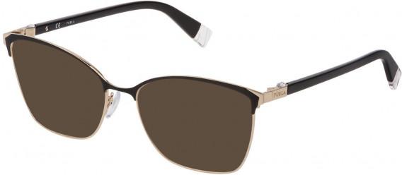 Furla VFU296S sunglasses in Shiny Rose Gold/Black