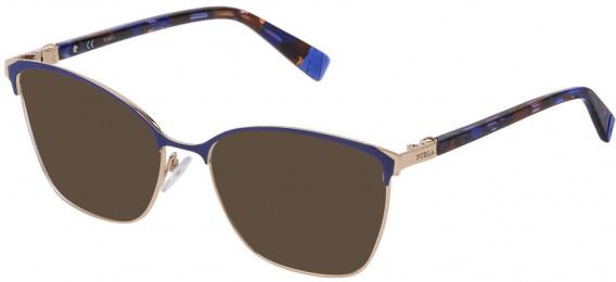 Furla VFU296 sunglasses in Shiny Light Gold/Coloured