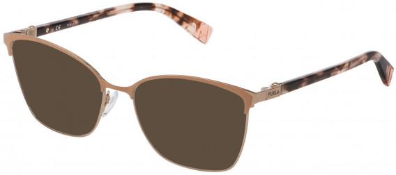 Furla VFU296 sunglasses in Shiny Camel/Coloured