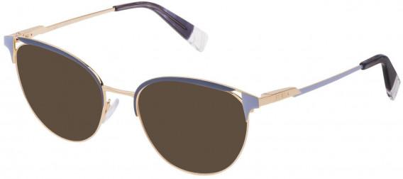Furla VFU294 sunglasses in Shiny Rose Gold/Blue