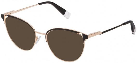 Furla VFU294 sunglasses in Shiny Rose Gold/Black