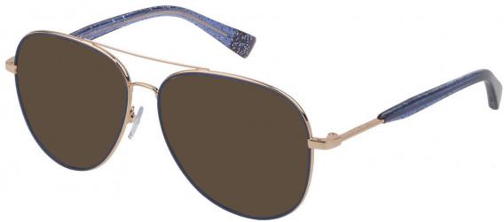 Furla VFU278 sunglasses in Shiny Rose Gold