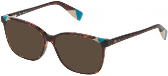 Furla VFU250 sunglasses in Shiny Dark Havana