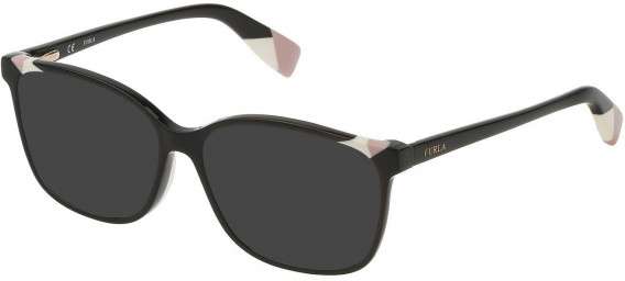 Furla VFU250 sunglasses in Shiny Black