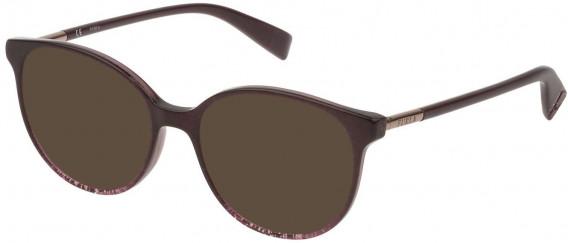 Furla VFU249 sunglasses in Shiny Plum/Glittery