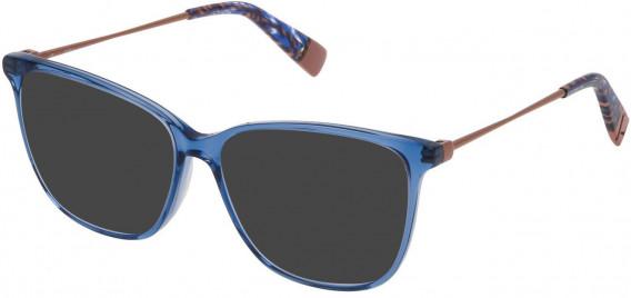 Furla VFU200 sunglasses in Transparent Blue