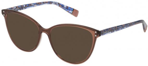 Furla VFU199 sunglasses in Shiny Transparent Brown