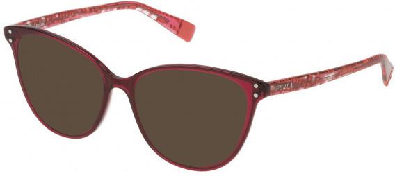 Furla VFU199 sunglasses in Shiny Transparent Raspberry