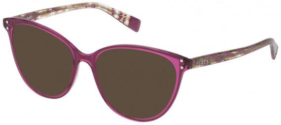 Furla VFU199 sunglasses in Shiny Transparent Cyclamen