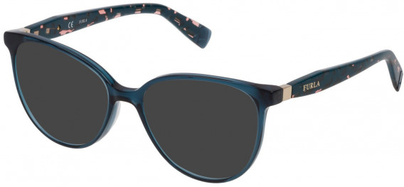 Furla VFU197 sunglasses in Shiny Transparent Blue