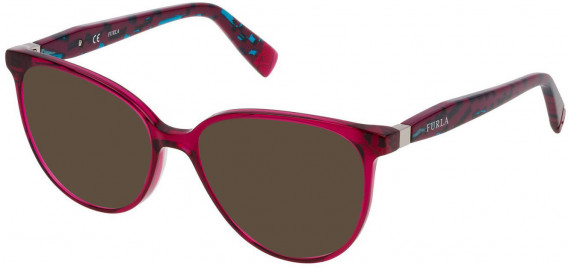 Furla VFU197 sunglasses in Shiny Transparent Cyclamen