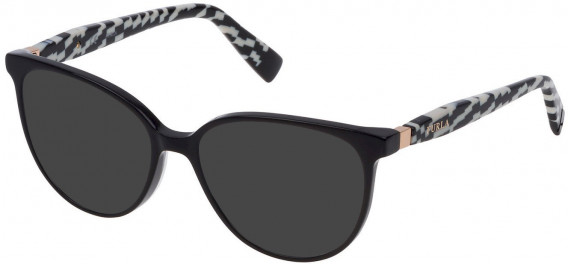 Furla VFU197 sunglasses in Shiny Black