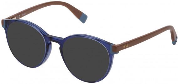 Furla VFU194 sunglasses in Transparent Blue