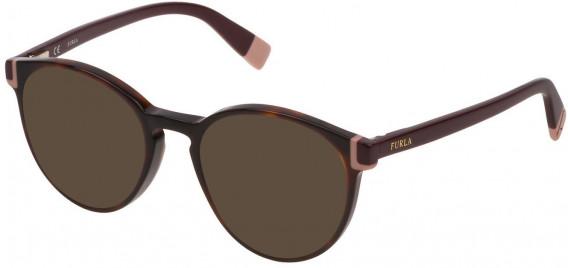 Furla VFU194 sunglasses in Shiny Dark Havana