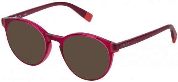 Furla VFU194 sunglasses in Shiny Transparent Cyclamen