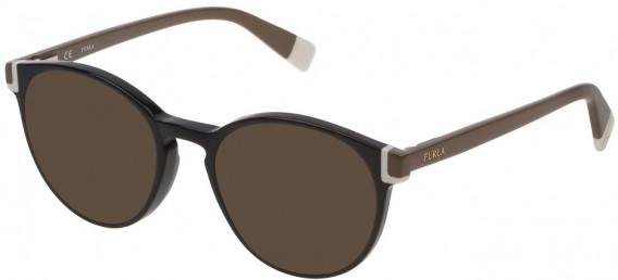 Furla VFU194 sunglasses in Shiny Black