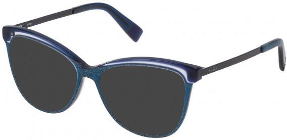 Furla VFU192 sunglasses in Shiny Glittery Blue