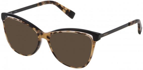 Furla VFU192 sunglasses in Shiny Havana/Black