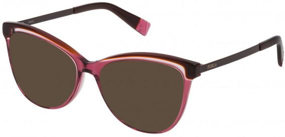 Furla VFU192 sunglasses in Bordeaux