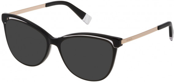 Furla VFU192 sunglasses in Shiny Black