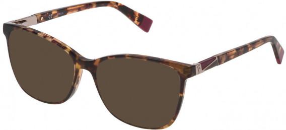 Furla VFU190 sunglasses in Shiny Mimetic Camouflage Green/Brown