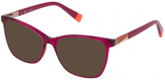 Furla VFU190 sunglasses in Shiny Transparent Cyclamen