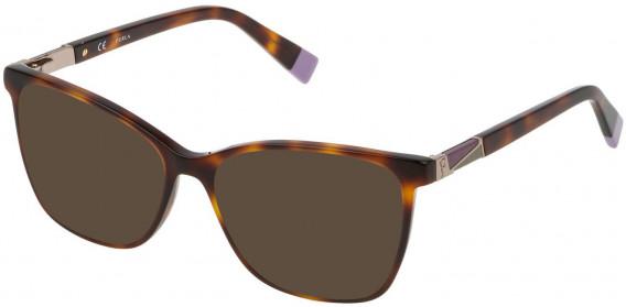 Furla VFU190 sunglasses in Shiny Dark Havana