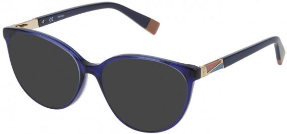 Furla VFU189 sunglasses in Transparent Blue