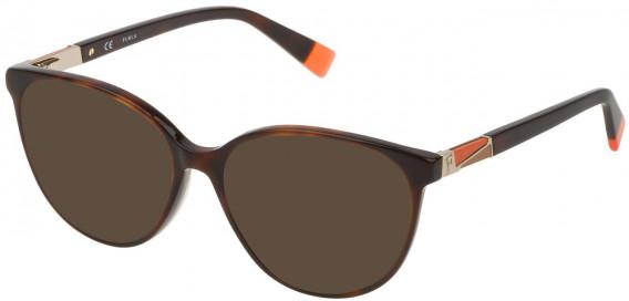 Furla VFU189 sunglasses in Shiny Dark Havana