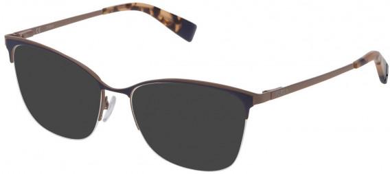 Furla VFU184 sunglasses in Shiny Full Blue/Coloured
